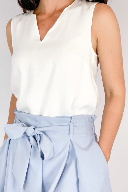 Elegancka bluzka bez rekawów