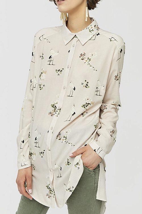 Koszula bezowa czapla