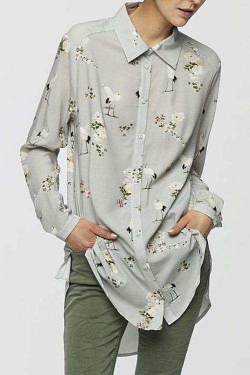 Koszula czapla szara