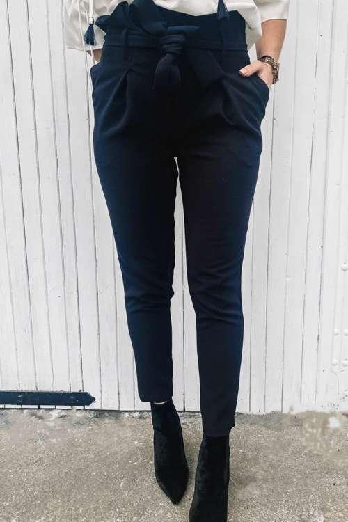 Spodnie Paperbag-czarne
