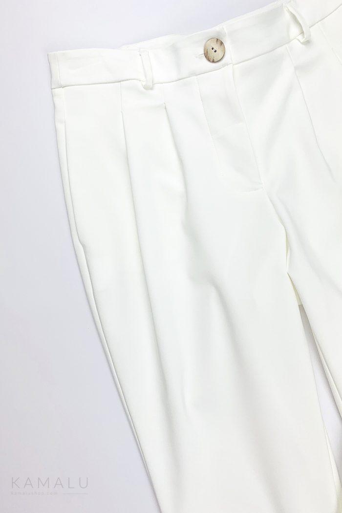 Spodnie gerniturowe ekru