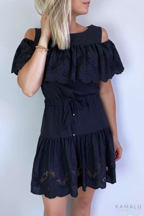 Sukienka cold shoulder- czarna