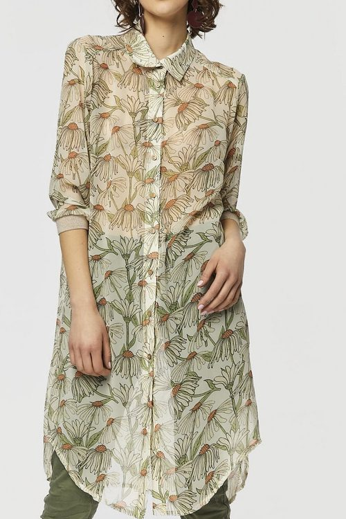 Blusenkleid mit Blumenmuster