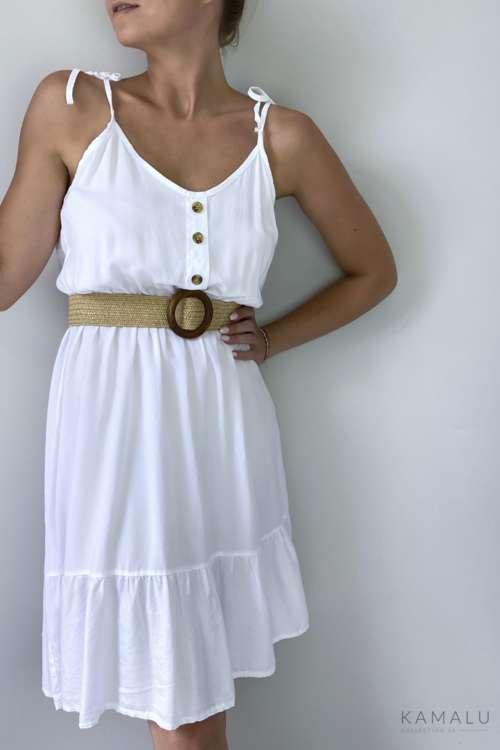 Sukienka na ramiączkach - biała