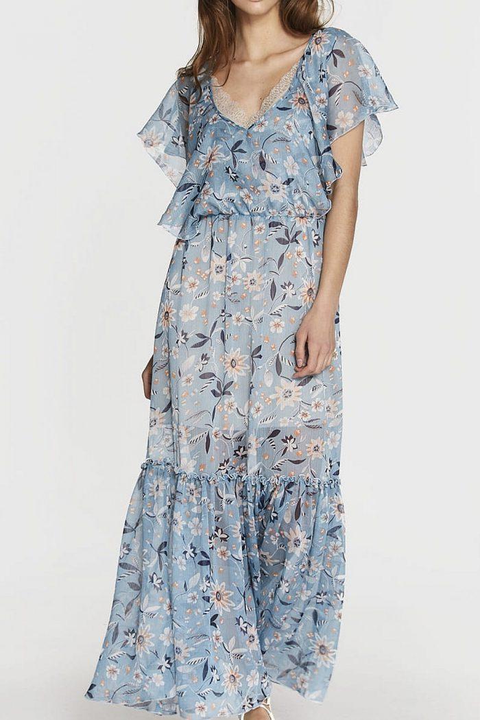 Sukienka niebieska długa
