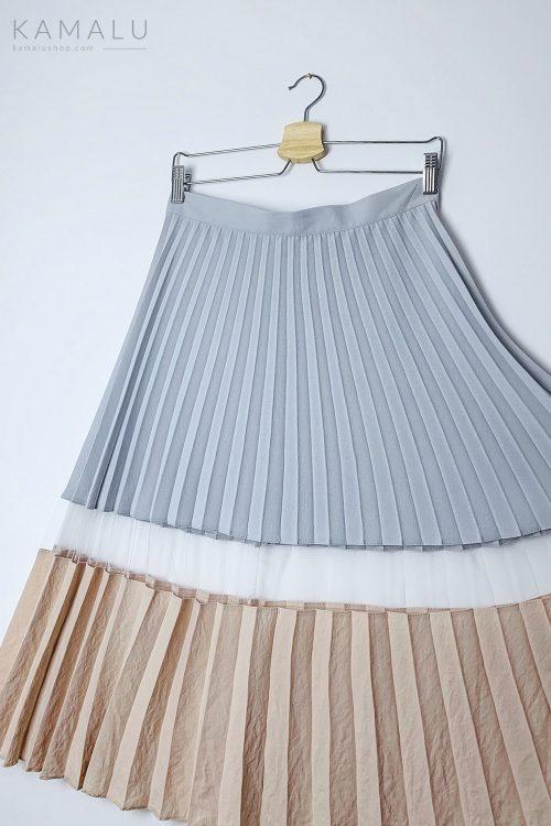 Spódnica plisowana dwukolorowa