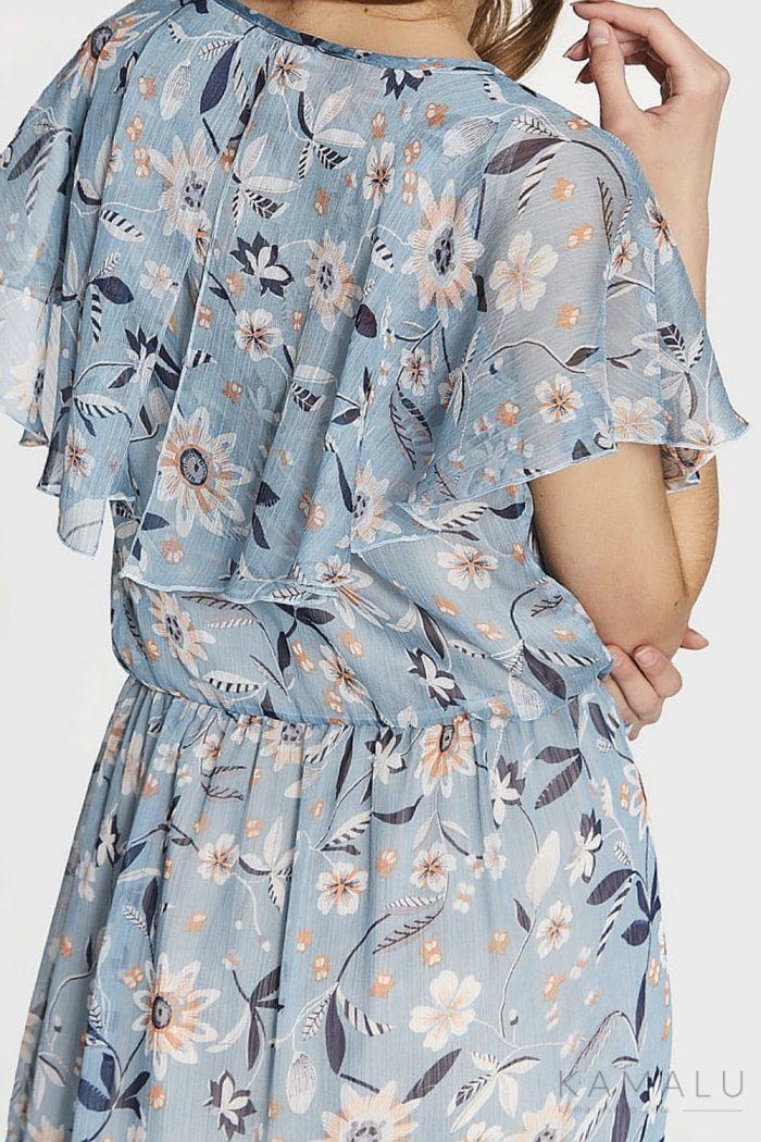 Zwiewna sukienka maxi w kwiaty