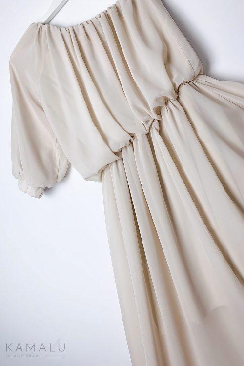 Langes One-Shoulder Kleid