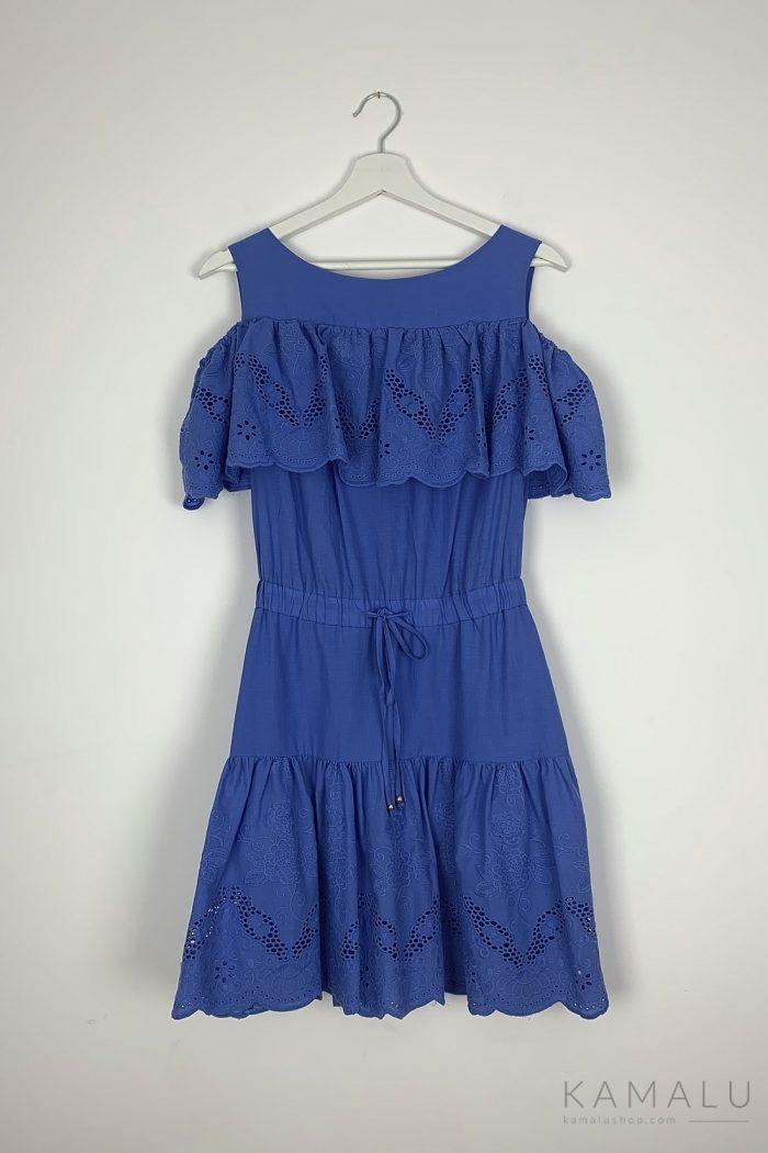 Sukienka cold shoulder z haftem