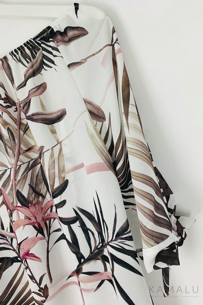 Elegancka bluzka w wiązaniem na rękawie