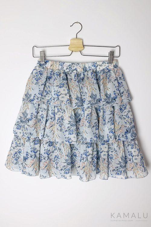 Spódnica niebieska z falbankami