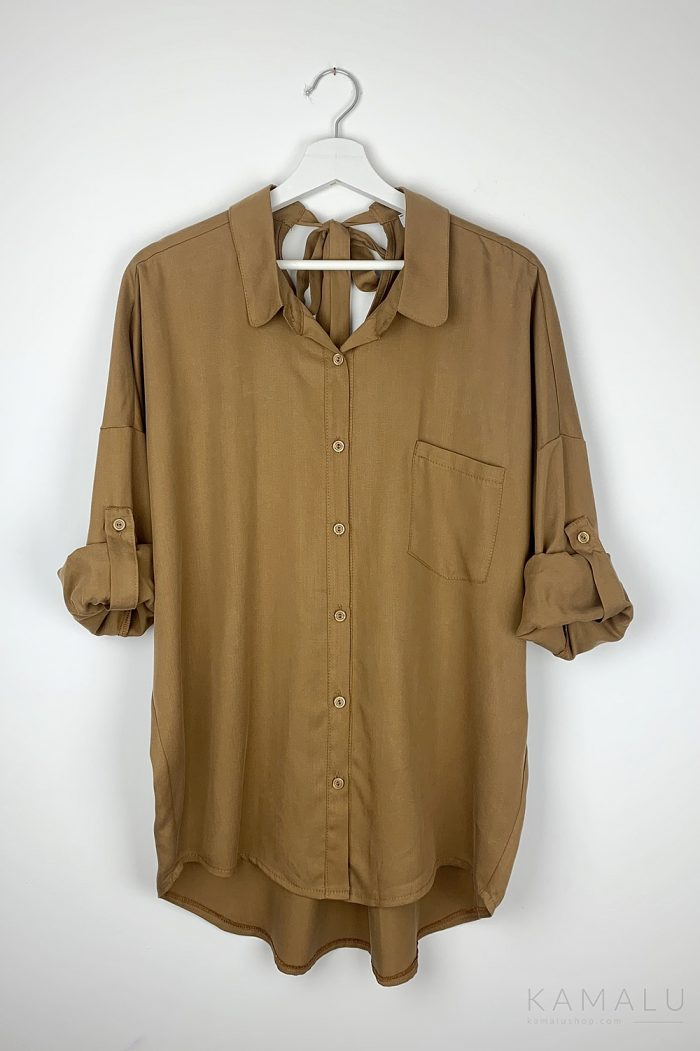 Koszula z wiązaniem na plecach