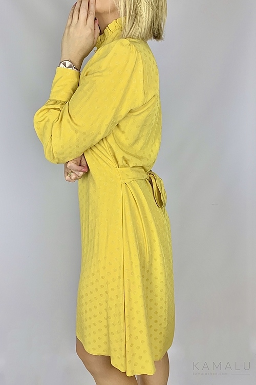 Sukienka musztardowa