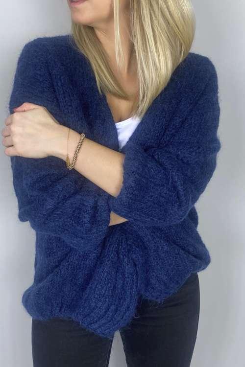 Kardigan - niebieski