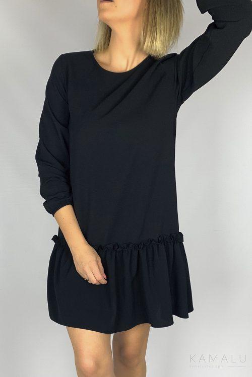 Sukienka z falbaną czarna