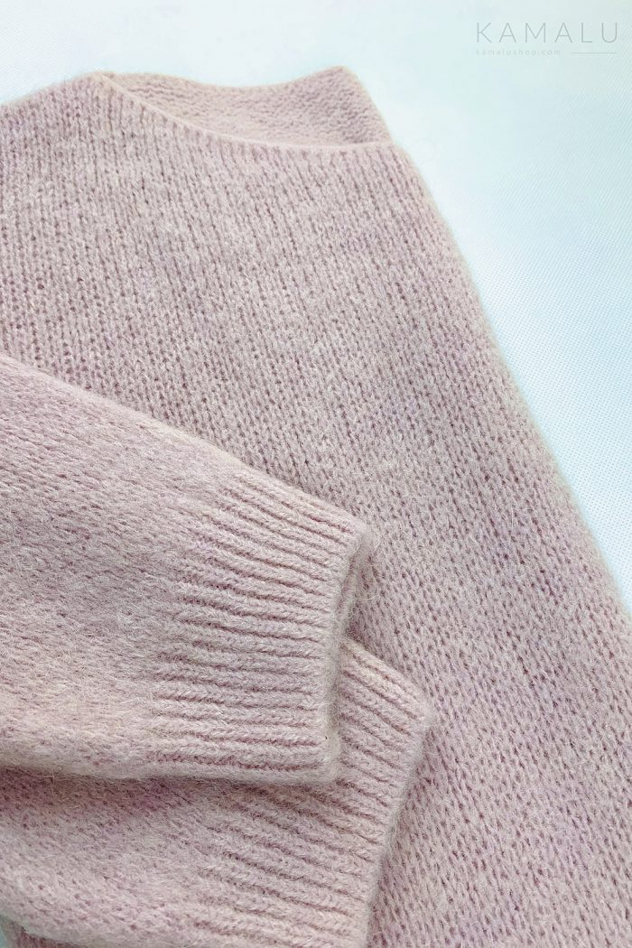 Sweter Rossber- jasny róż