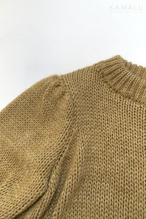 Sweter ze ściągaczami Camel