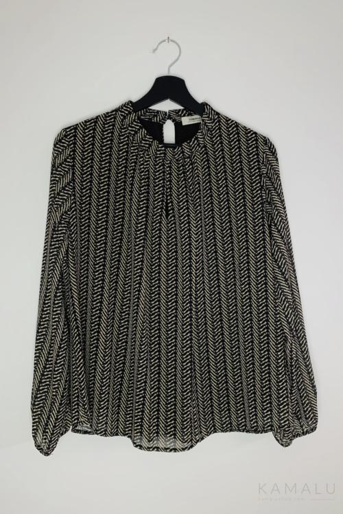 Bluzka z wzorem brązowa