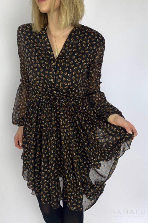 Sukienka szyfonowa z sznurkiem
