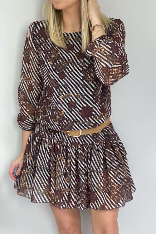 Sukienka Lala-brąz