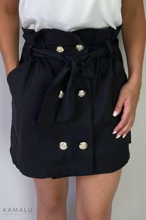 Spódnica paperbag - czarna