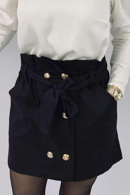 Spódnica z wiązaniem- czarna