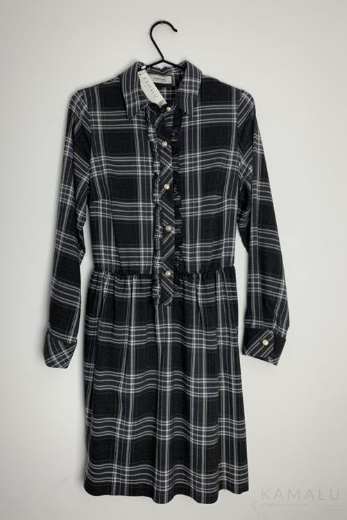 Sukienka w kratę- czarna
