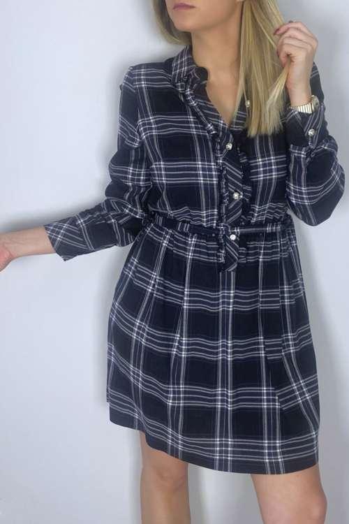 Sukienka w kratę - czarna