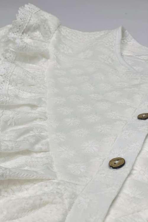 Bluzka ażurowa - biała