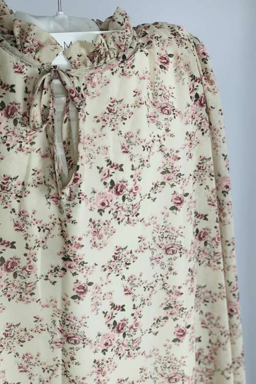 Sukienka luźna - beż