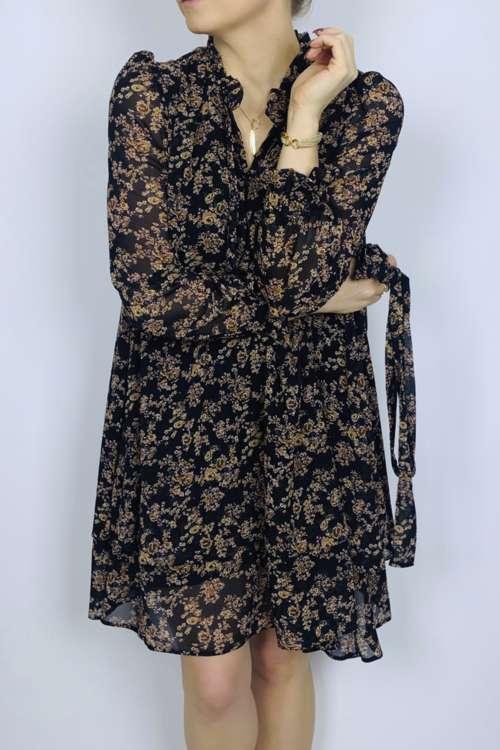 Sukienka luźna - czarna