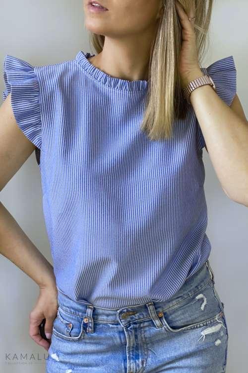 Bluzka w paseczki - niebieski