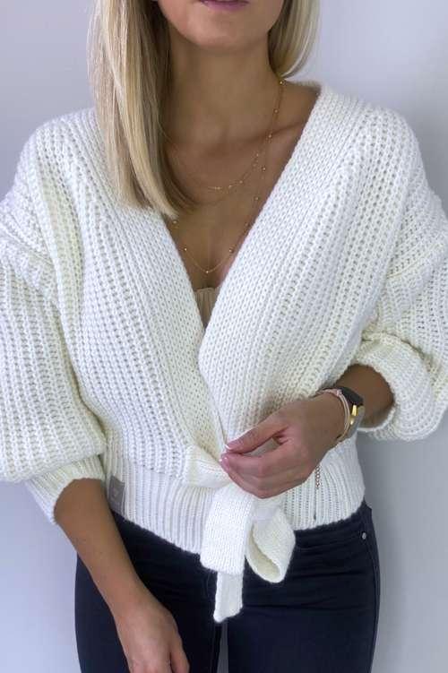Sweter kopertwy- ekri