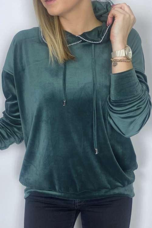 Bluza welerowa-zielona