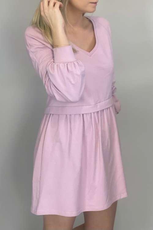 Sukienka bawełniana- róż
