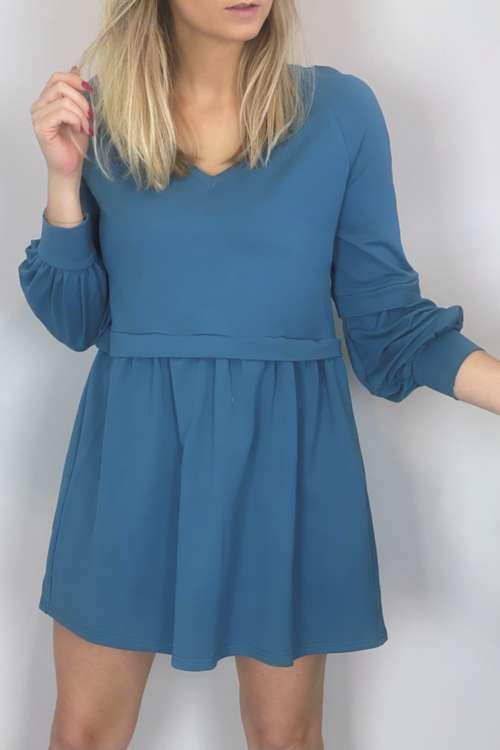 Sukienka bawełniana- turkusowa