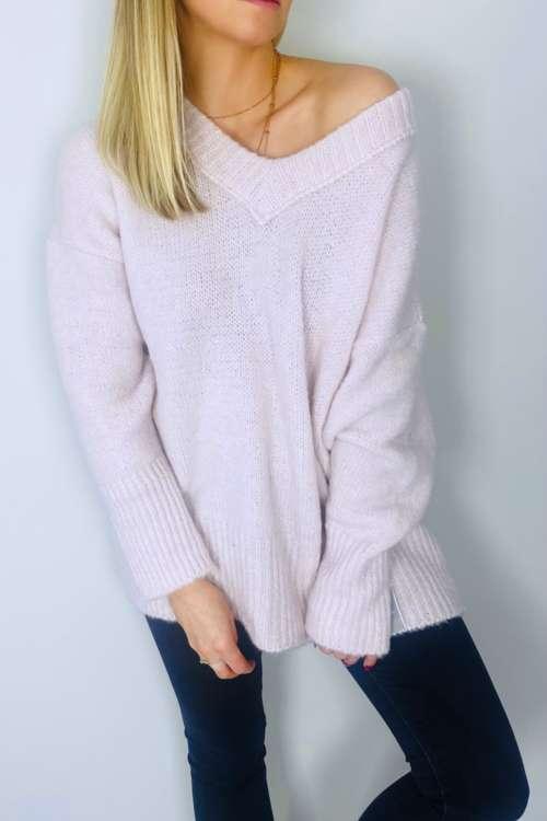 Sweter Sara - jasny róż