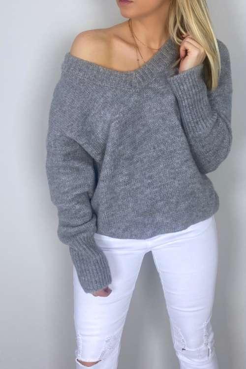 Sweter Sara - szary